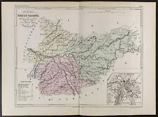 1855 - Carte ancienne du département du Tarn Et Garonne, par Dufour