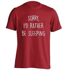 I'd rather be sleeping, t-shirt lazy nap kip student bed sarcastic funny 1629