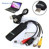 USB 2.0 Capture Card VHS Tapes to DVD Converter S-Video RCA Audio Video Adapter
