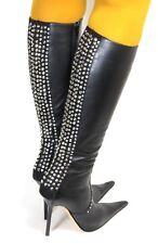 Elegant Stiefel Boots Damenstiefel Paolo Biondini Swarovski High Heels Strass 38