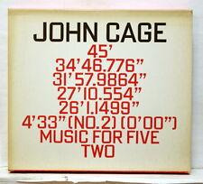 EBERHARD BLUM, UITTI - JOHN CAGE  45' / 34'46.776 / 31'57.9864 HAT ART 2xCDs NM