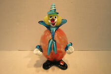 Murano Blown Glass Clown Figurine Made in Itay