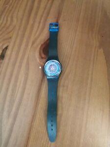 Blue Swatch Watch Working