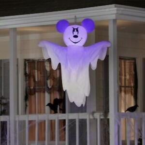 Disney 4' ft Mickey Mouse Ghost LED Light Airblown Inflatable Hanging Decoration