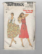 BUTTERICK 6523   pattern sundress and bolero Sz 12 uncut unused vintage
