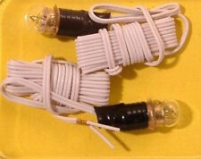 Two Round Bulbs & Wire, Doll House Pea Bulb, 1.12 Scale 12 Volt