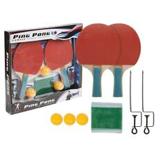 Family Table Tennis Complete Set Bats Paddle Ping Pong Balls Net Gift Clamps