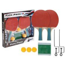 Famille Tennis de Table Ensemble Complet Chauves-Souris Pagaie Ping Pong Balles