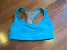 LULULEMON modern racerback bra size 4 in teal rusched back