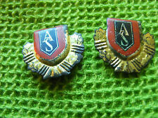 Lot of 2 Very old ARMSTRONG SIDDELEY Tinplate Lapel Badges,