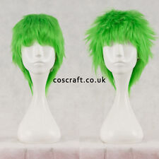 Court Layered moelleux perruque cosplay spikeable en vert citron, royaume-uni vendeur, Jack Style