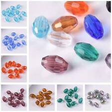 100pcs 8x6mm Rugby Oval Faceted Crystal Glass Loose Crafts Beads Wholesale Lot