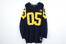 Vtg FUBU Mens XL Throwback Collection Football Stitched Crewneck Sweater Blue