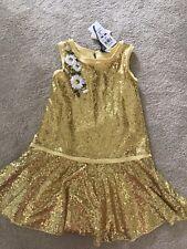 Stunning Monnalisa Gold Dress, Age 10, Nwt