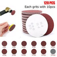 120Pcs 60-3000 GRIT Sandpaper Sanding Sheet Pads & Chassis & Sponge pad Tool Set