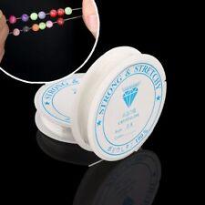 2PCS Schmuck Elastische Schnur Stretch-Perlenseil Halsketten-Schnur Kristall