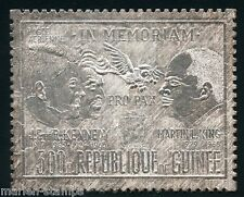 Chad President John & Robert Kenned-Martin Luther King, Jr Silver Foil Stamp
