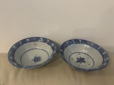 New listing Two Antique Asian Blue and White Porcelain Bowls