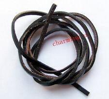 1mt di cordino  filo in Pelle cuoio 3mm colore nero per bracciale,collana bijoux