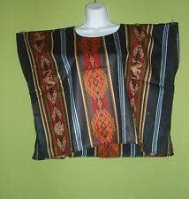 MEXICAN BLOUSES TUNIC BOHO PEASANT VINTAGE TOP HUIPIL L to 3X ONE SIZE