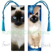 Ragdoll Cat Large Bookmark w/Tassel Art Print Book Mark Big Card Birman Siamese