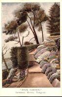"Vintage Postcard ~1940/50 ""Rock Garden"" Imperial Hotel in TORQUAY Künstler-AK"