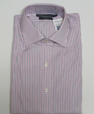 Polo Ralph Lauren Mens Regent Custom Fit Long Sleeve Solid Striped Dress Shirt