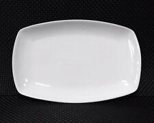 12x Servierplatte platte eckig Ca 36 Cm Porzellan WEISS