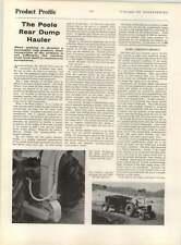 1961 Product Profile Of The Poole Rear Dump Hauler, Aspenden House Buntingford