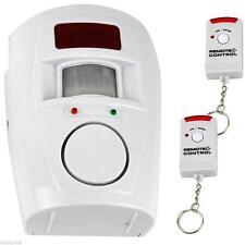 Wireless PIR Motion Sensor Alarm & 2 Remote Controls Home Caravan Shed Garage