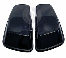 Mutazu Vivid Black 6x 9 Speaker Lids for 2014-up Harley Touring Models FLH FLT