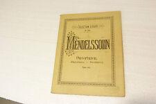Collection LITOLFF n°642 Mendelssohn Ouverture pour Piano à 2 mains REF 454z