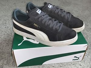 Puma Mens Court Star Trainers Size 8 Grey Suede Leather