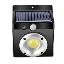 COB LED Solar Powered Wall Light PIR Motion Sensor Wireless Lamp Outdoor Garden