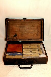 Antique Stereoscope, Approx. 90 Glass Slides in 8 boxes Religious Scenes