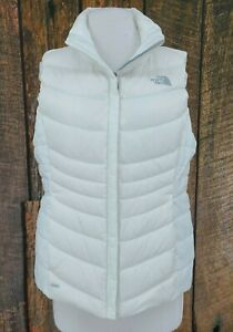 The North Face White Down Vest Womens Medium 550 Zip Front
