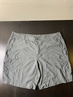 Woman's Columbia Outdoor Fishing Sportswear Company Gray Shorts Size 22w 10L B9
