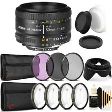 Nikon AF FX NIKKOR 50mm f/1.8D Lens for Nikon DSLR Cameras and Accessory Kit