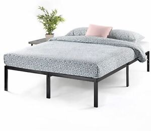 Best Price Mattress 14 Inch Metal Platform Beds w/ Heavy Duty Steel Slat Mattres
