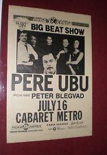 Pere Ubu Poster Big Beat Show