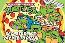 Teenage Mutant Ninja Turtles No Drugs Yes Pizza Poster Print, 24x36