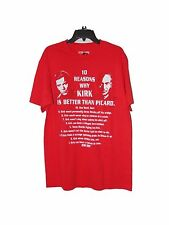 Star Trek Picard vs Kirk Reasons T-shirt Size Small Nwt Cotton