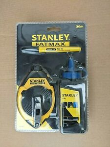 STANLEY FATMAX 30M CHALK LINE SET 0-47-681