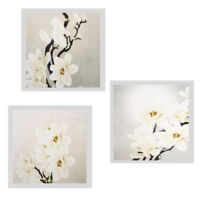 Art Flower Modern Pictures Wall Oil Painting Canvas Home Decor 30x30cm