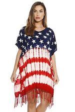Riviera Sun American Flag Caftan / Caftans / Swimsuit Cover Up 2X Plus