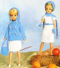 SINDY/BARBIE OUTFITS - 4ply - COPY doll knitting pattern
