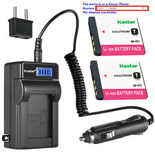 Kastar Battery LCD AC Charger for Sony NP-FT1 & Sony Cyber-shot DSC-T5/B Camera