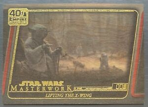 2020 STAR WARS Masterworks 40th Empire Strikes Back Lifting the X Wing Wood 2/10