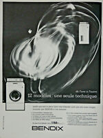 PUBLICITÉ DE PRESSE 1963 BENDIX MACHINE A LAVER 12 MODÈLES UNE SEULE TECHNIQUE