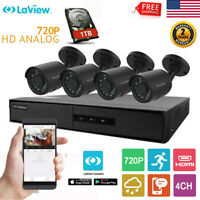 4CH HD DVR Wireless Outdoor WiFi 4x 720P HD IP Camera CCTV Home Security 1TB HDD